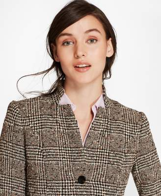 Brooks Brothers Petite Glen Plaid Tweed Jacket