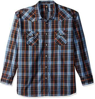 Dickies Men's Long Sleeve Relaxed fit Western Plaid Shirt Big