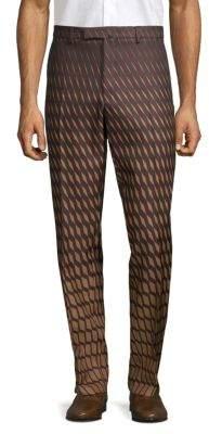 Valentino Geometric-Print Chino Pants
