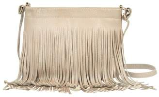 Toms Vangoddy Dario Women's Faux Patent Leather Fringe Crossbody Purse with Adjustable Cross-Body Strap