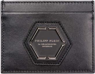 Philipp Plein Genuine Leather Credit Card Case Holder Wallet Pp1978