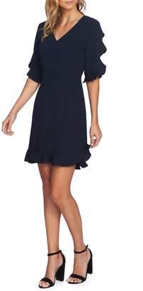 CeCe Ruffle V-Neck A-Line Dress