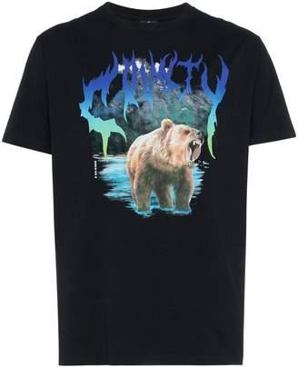 Marcelo Burlon County of Milan bear print cotton short sleeve t shirt