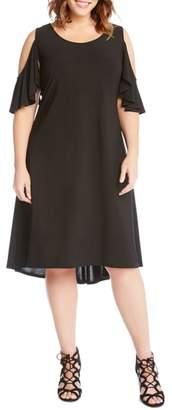 Karen Kane Cold Shoulder High/Low Shift Dress