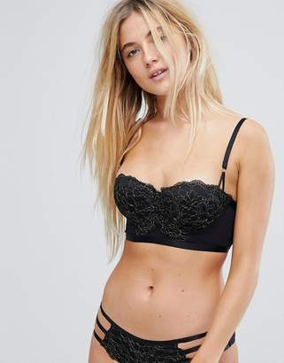 New Look Lace Longline Bra