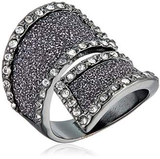 GUESS Glitter and Stone Bypass Wrap Ring
