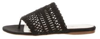Giambattista Valli Woven Satin Slide Sandals w/ Tags