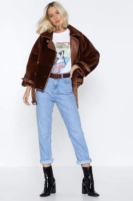 Nasty Gal Teddy Picker Cropped Coat