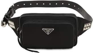 Prada New Vela Nylon Belt Bag W/ Studs