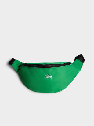 Stussy Unisex Graffiti Waist Bag in Kelly Green