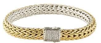 John Hardy Diamond Reversible Bracelet