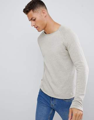 Jack and Jones Essentials Knitted Sweater With Roll Hem