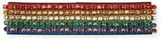Gucci Metallic Crystal Webby Headband