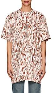 Victoria Beckham Women's Wood-Print Twill Tunic - Rust, Off white