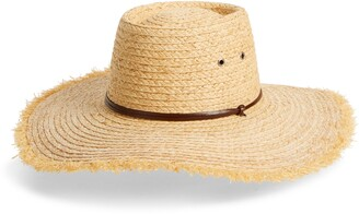 Frye Wide Brim Straw Hat