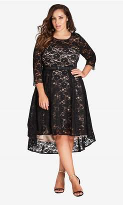 City Chic Citychic Lace Lover Dress - Black