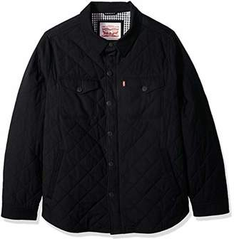 Levi's Men's Big and Tall Stretch Cotton Diamond Quilted Shirt Jacket