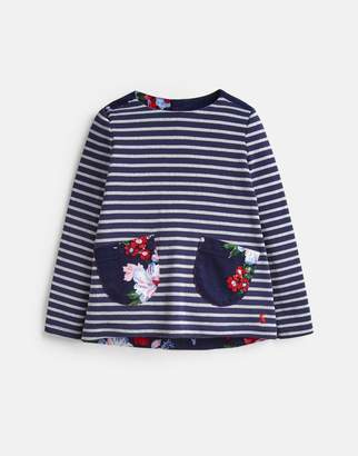 Joules Ria Luxe Jersey Woven Mix Top 1-6 Years