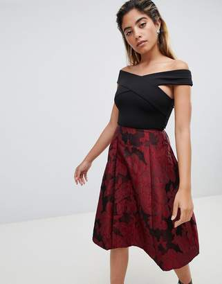 AX Paris 2-in-1 Skater Midi Dress