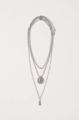 H&M 3-pack Necklaces - Silver-colored - Women