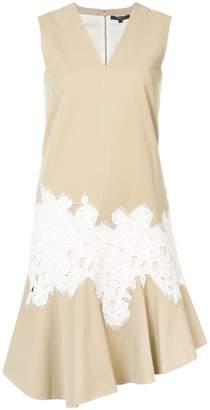 Derek Lam Sleeveless V-Neck Dress with Lace Detail
