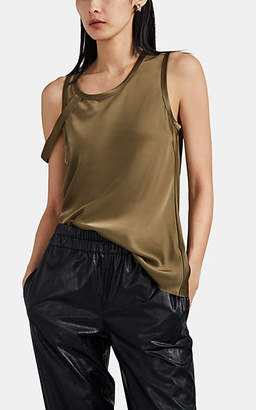 "Helmut Lang Women's ""Harness"" Satin Tank - Dk. Green"