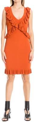 Max Studio Fully Fashioned Knit Ruffled Dress