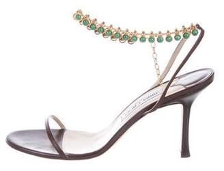 Jimmy Choo Embellished Ankle-Strap Sandals