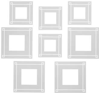 Pottery Barn Teen No Nails Fabric Photo Frames, Set of 8, Gray