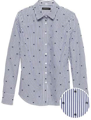 Banana Republic Riley Tailored-Fit Elephant Stripe Shirt