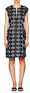 Zero Maria Cornejo Women's Geometric-Pattern Gauze Dress - Navy