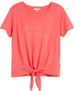 Sundry Locals Only Tee - 2 - Pink