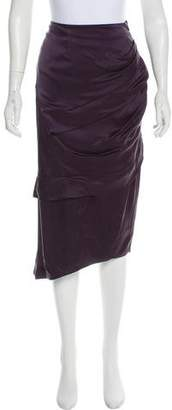 Edun Ruffled Silk Skirt