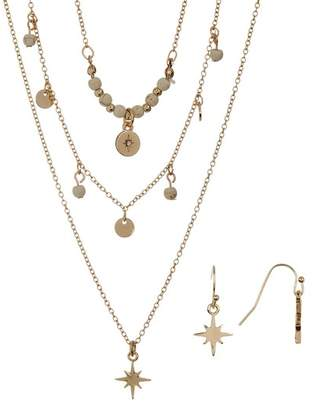 Olivia Welles Starry Night Multi-Strand Necklace & Earrings Set