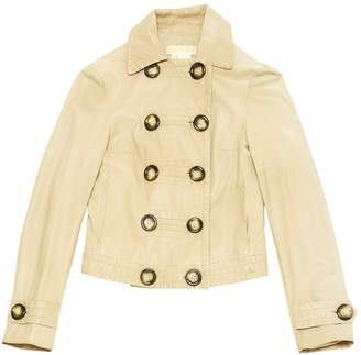 Michael Kors Beige Leather Jackets
