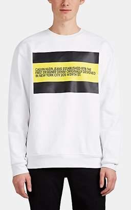 Calvin Klein Jeans Est. 1978 Men's Logo Cotton-Blend Terry Sweatshirt - White