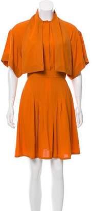Gucci Silk Pleated Dress