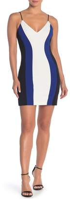 Jump Colorblock Bodycon Mini Dress