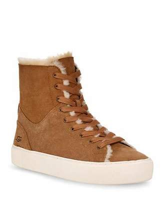 UGG Beven Fur-Lined High-Top Sneakers