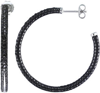 Black Diamond FINE JEWELRY CT. T.W. Color-Enhanced Hoop Earrings