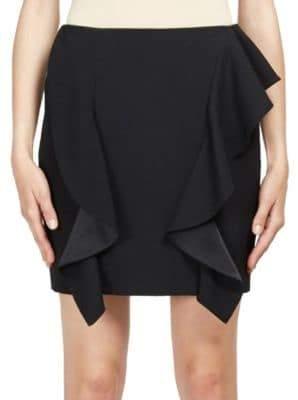 Givenchy Ruffle Wool Mini Skirt