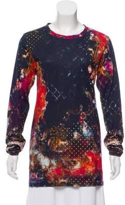 Balmain Printed Long Sleeve Top
