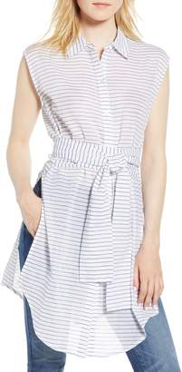 Kenneth Cole New York Stripe Tunic Shirt