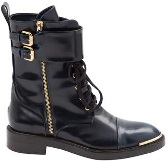 Louis Vuitton Leather buckled boots