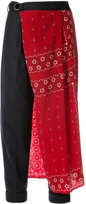 Kolor side fabric detail trousers