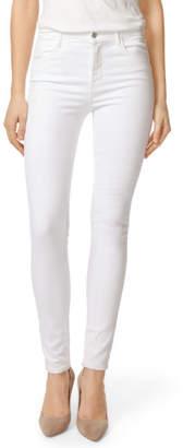 J Brand Maria High-Rise Super Skinny in Blanc