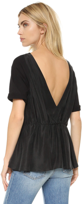 MM6 Low Back Tunic $395 thestylecure.com