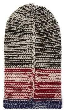 Calvin Klein Striped Wool Knit Balaclava - Mens - Black Multi