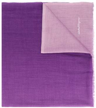 Salvatore Ferragamo gradient effect scarf