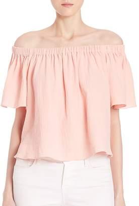 Rebecca Taylor Women's Off-Shoulder Cotton Gauze Top